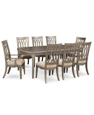 Kelly Ripa Home Hayley 9-Pc. Dining Set (Dining Table, 6 Side Chairs regarding Caira Black 7 Piece Dining Sets With Upholstered Side Chairs
