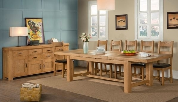 Kendal Oak 220Cm 320Cm 8 Seater Dining Table With Regard To 8 Seater Oak Dining Tables (Photo 7 of 25)