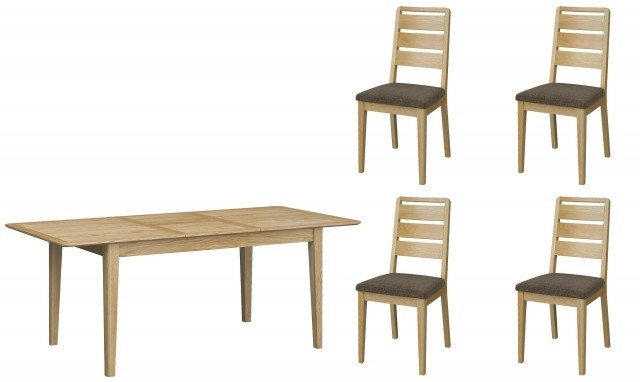 Kenwood – Small Extending Dining Table With 4 Ladder Back Dining With Small Extending Dining Tables And 4 Chairs (View 19 of 25)