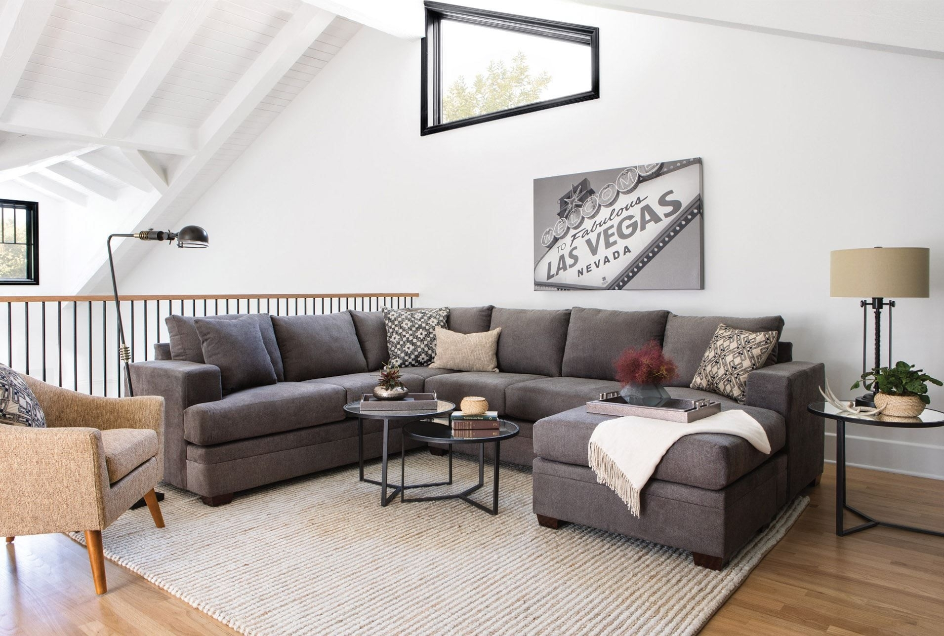 Featured Image of Mcdade Graphite 2 Piece Sectionals With Raf Chaise