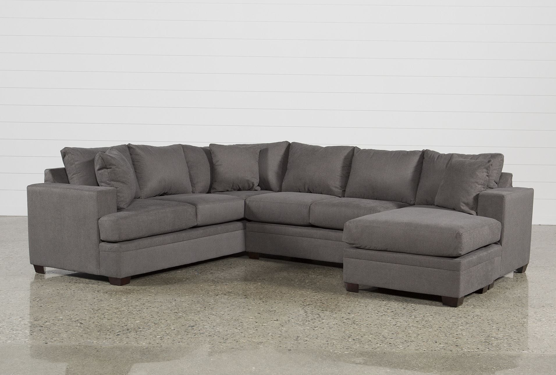 Kerri 2 Piece Sectional W/raf Chaise In 2018 | Products | Pinterest Within Aquarius Dark Grey 2 Piece Sectionals With Raf Chaise (Image 8 of 25)