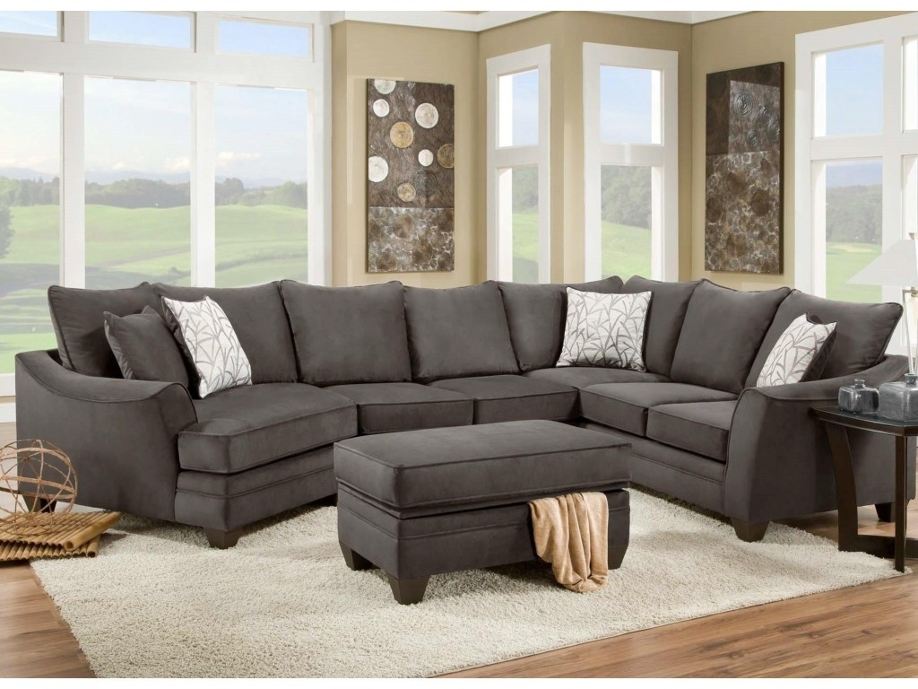 Kerri 2 Piece Sectional W Raf Chaise Living Spaces Couch For Kerri 2 Piece Sectionals With Laf Chaise (Image 8 of 25)