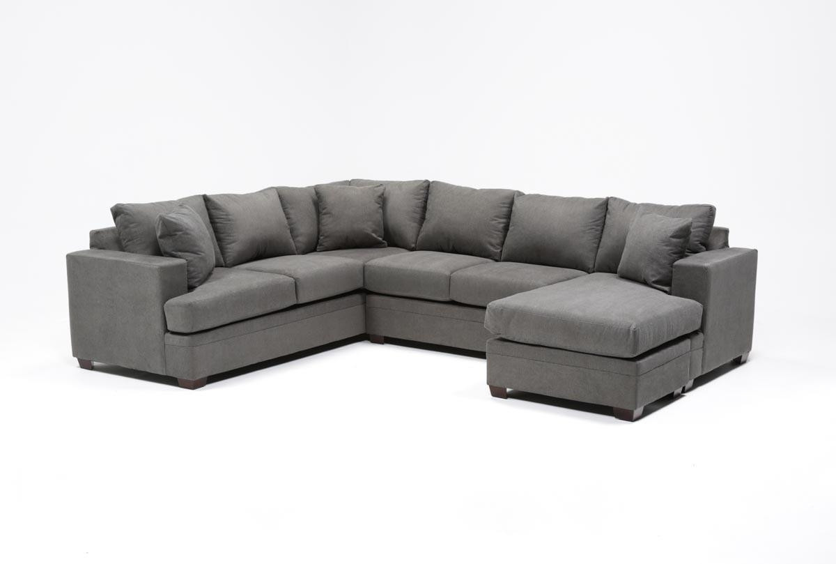 Kerri 2 Piece Sectional W/raf Chaise | Living Spaces For Mcdade Graphite 2 Piece Sectionals With Laf Chaise (Image 8 of 25)