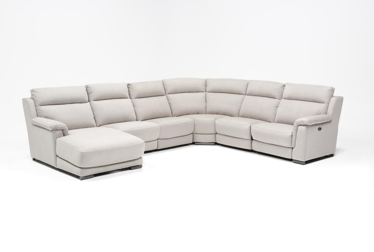 Kerwin Silver Grey 6 Piece Power Reclining Sectional W/laf Chaise Regarding Kristen Silver Grey 6 Piece Power Reclining Sectionals (Image 6 of 25)