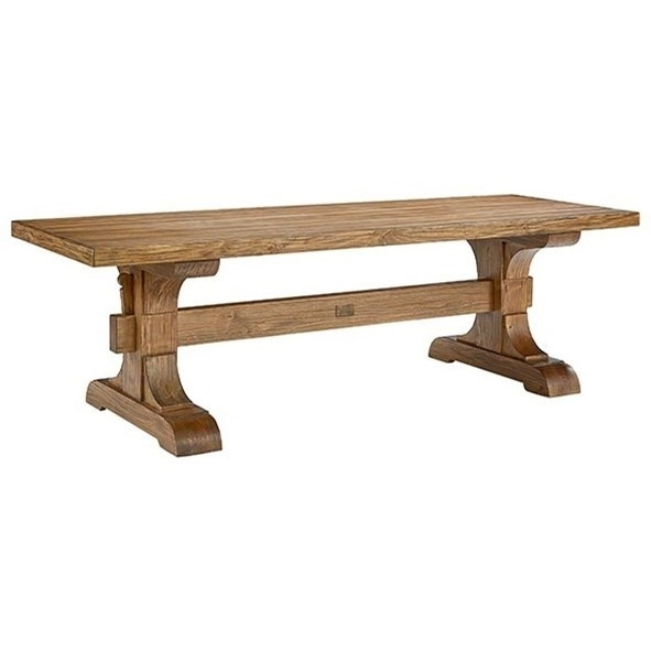 Keyed Trestle Dining Tablemagnolia Homejoanna Gaines   Wolf In Magnolia Home Taper Turned Jo's White Gathering Tables (Image 10 of 25)
