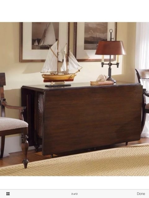 Kincaid Moonlight Bay Solid Mahogany Gate Leg Drop Leaf Dining Table For Cheap Drop Leaf Dining Tables (View 7 of 25)
