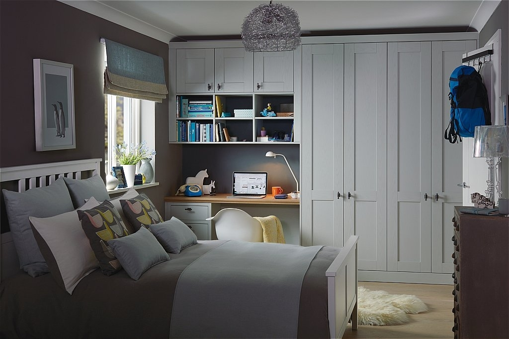 Kindred - Origin Fitted Bedroom Furniture Range In Partridge Grey inside Partridge 7 Piece Dining Sets