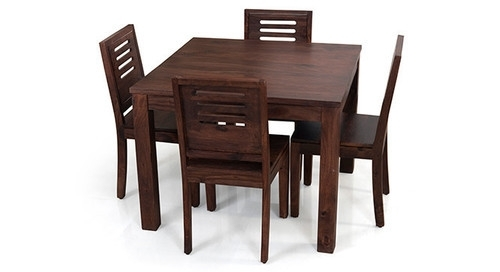 Kings Crafts Co Dark Brown 4 Seater Dining Table Set, Rs 16000 /set In Dark Brown Wood Dining Tables (View 13 of 25)