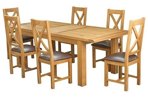 Kingston 1.8 2.3M Dining Table & 6 Chairs – Furniture Stores Ireland Inside Kingston Dining Tables And Chairs (Photo 11 of 25)