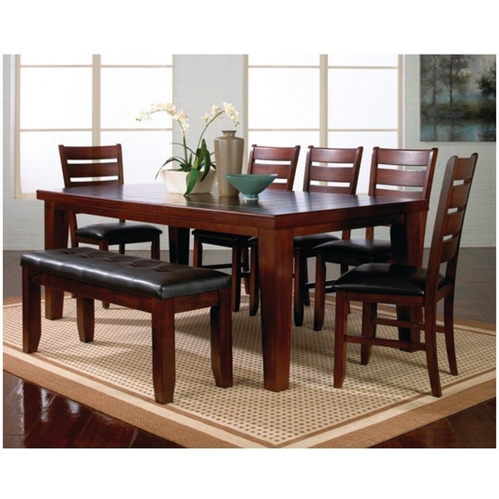 Kingston Dining Table & Chairs : Dining Sets | Conn's Inside Dark Brown Wood Dining Tables (Image 21 of 25)
