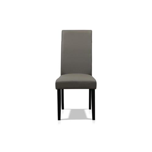 Kingston Grey Leather Dining Chair | James Lane – Pertaining To Grey Leather Dining Chairs (Image 12 of 25)