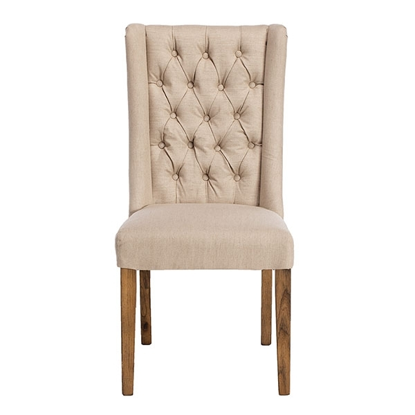 Kipling Fabric Dining Chair, Cream And Oak | Dining Chairs | Dining Room Throughout Oak Fabric Dining Chairs (View 12 of 25)