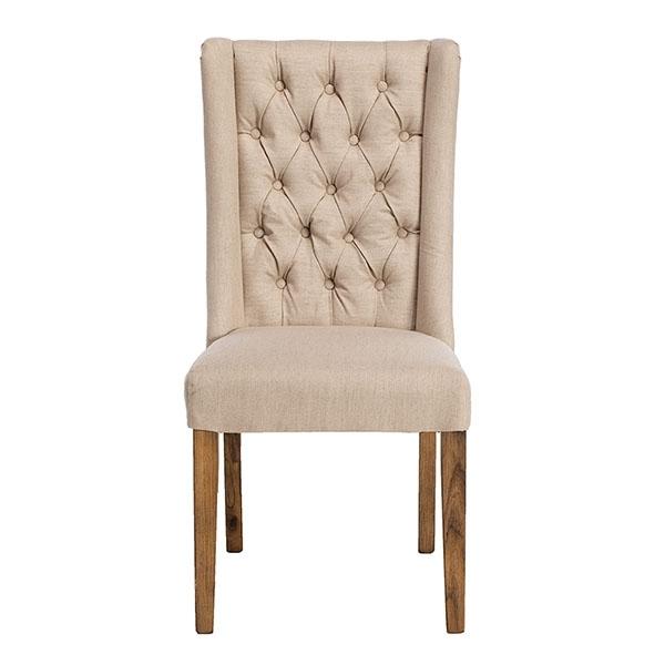 Kipling Fabric Dining Chair, Cream And Oak | Dining Chairs | Dining Room within Leather Dining Chairs