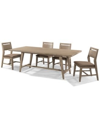 Kips Bay 5 Piece Dining Room Furniture Set With 4 Side Chairs In Kirsten 5 Piece Dining Sets (Image 11 of 25)