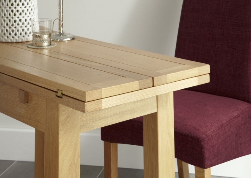 Kirkwall American White Oak Extending Dining Table – Thanet Beds throughout Oak Dining Tables