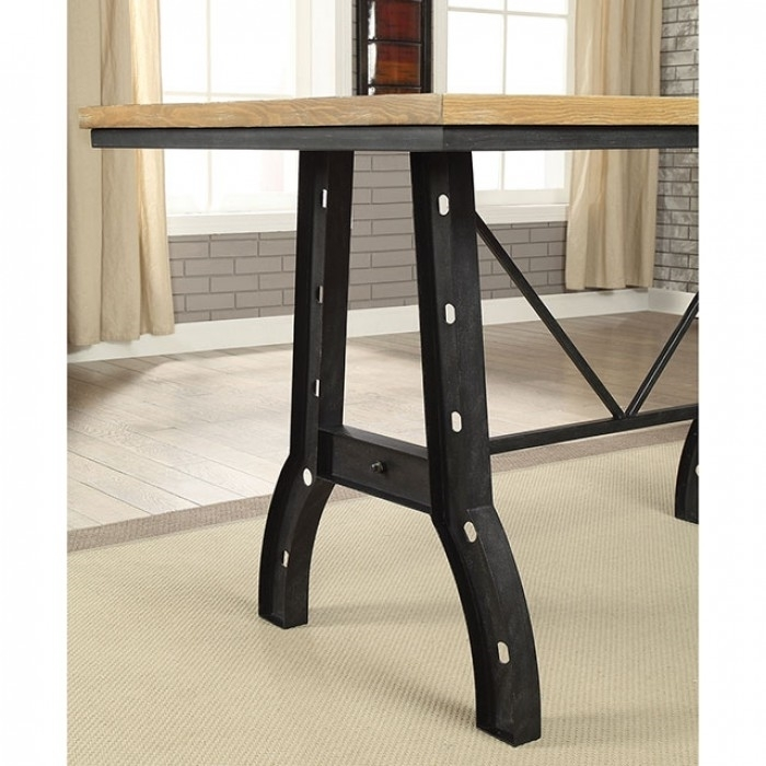 Kirstin 7 Piece Counter Height Dining Setfurniture Of America Throughout Kirsten 5 Piece Dining Sets (Image 14 of 25)