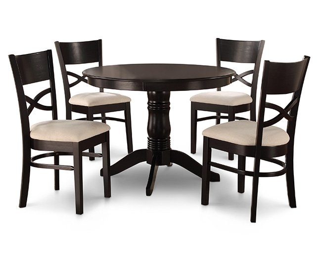 Kitchen & Dining Furniture   Furniture Row In Craftsman 7 Piece Rectangle Extension Dining Sets With Uph Side Chairs (Image 14 of 25)