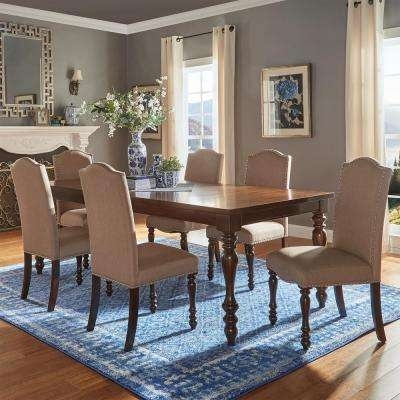 Kitchen & Dining Room Furniture – Furniture – The Home Depot For Parquet 7 Piece Dining Sets (Photo 24 of 25)