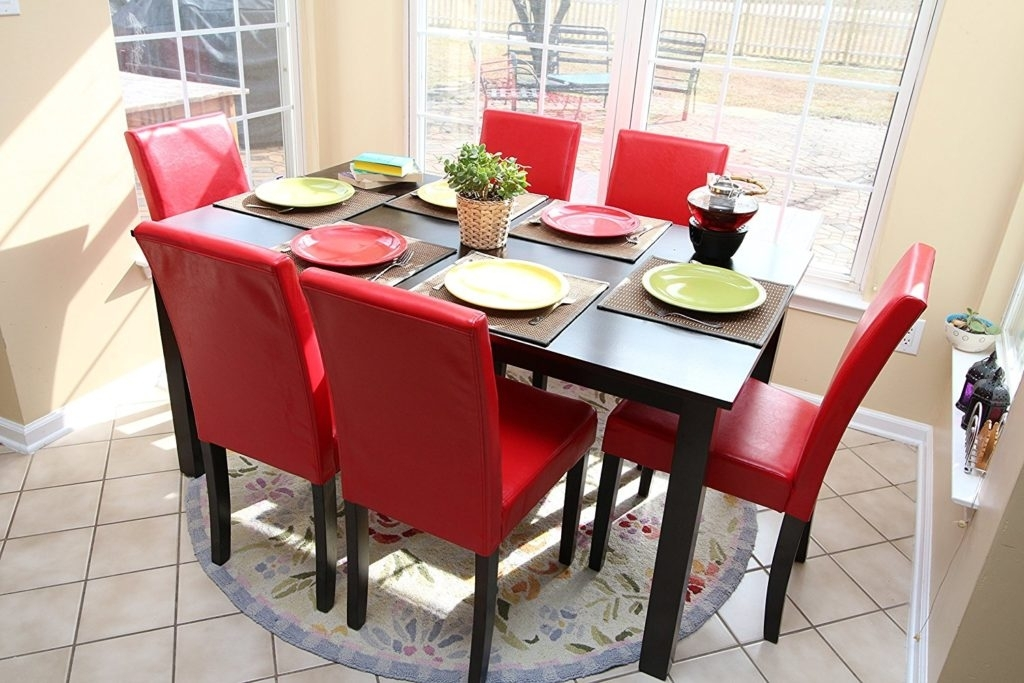 Kitchen : Kitchen Tables Red Dining Set Glass Kitchen Table Regarding Red Dining Table Sets (Image 7 of 25)