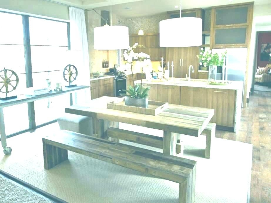 Kitchen Picnic Table Picnic Table Dining Room Bench Style Kitchen For Indoor Picnic Style Dining Tables (Image 11 of 25)