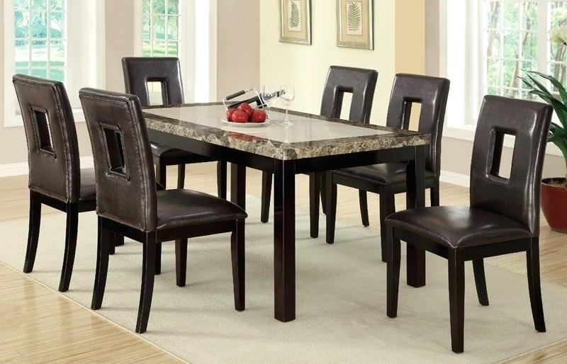 Kitchen Table 6 Chairs Set – Botscamp Throughout 6 Chairs Dining Tables (Image 22 of 25)
