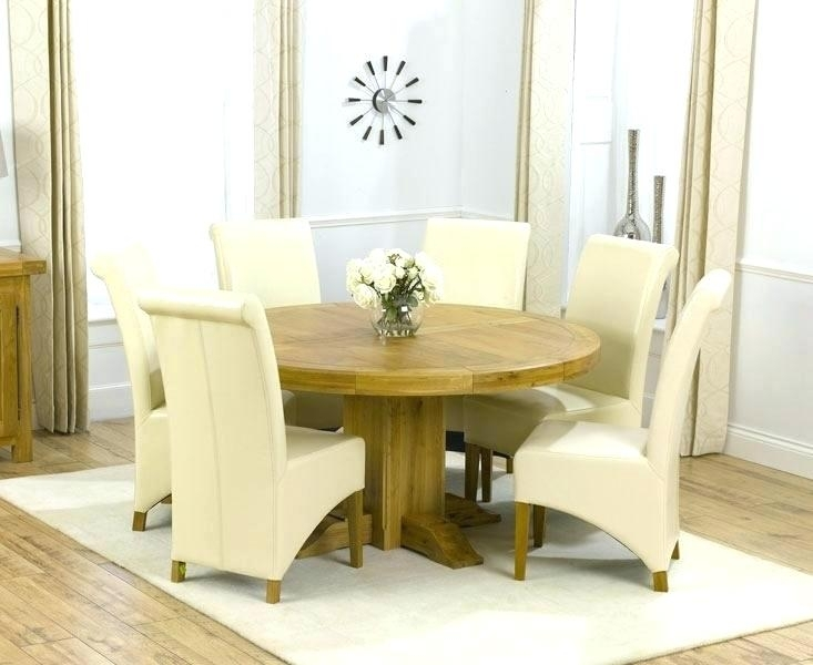 Kitchen Table Seats 6 Remarkable Round Glass Dining Table Set For 6 In 6 Seat Round Dining Tables (Image 13 of 25)