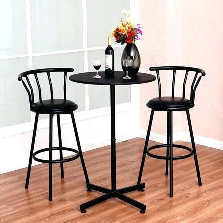 Kitchen Table Stools 3 Piece Kitchen Table Set 3 Piece Bar Table Set Regarding Dining Tables With Attached Stools (Image 16 of 25)