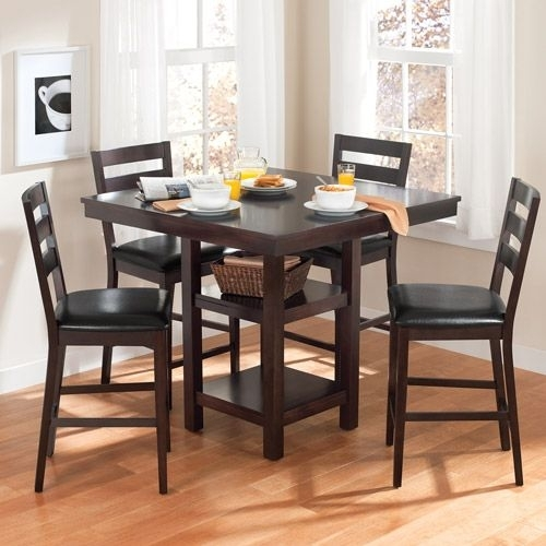 Kitchen Table Walmart Canopy Gallery Collection 5 Piece Counter Pertaining To Palazzo 7 Piece Dining Sets With Pearson White Side Chairs (Image 20 of 25)