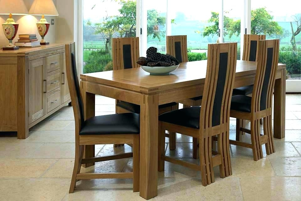 Kitchen Table With 6 Chairs 6 Chair Dining Table Set New Chairs Pertaining To Extendable Dining Table And 6 Chairs (Image 20 of 25)