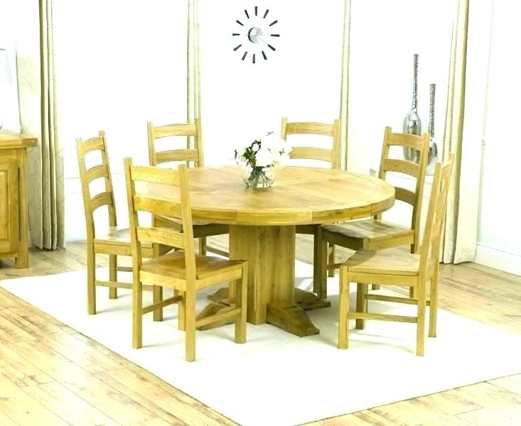 Kitchen Table With 6 Chairs Round Dining Table Seats 6 Kitchen Table Intended For 6 Seat Round Dining Tables (View 4 of 25)