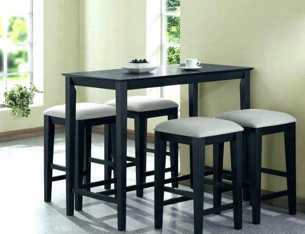 Kitchen Table With Stools Engaging Small Dining Table With Chairs In Dining Tables With Attached Stools (View 15 of 25)