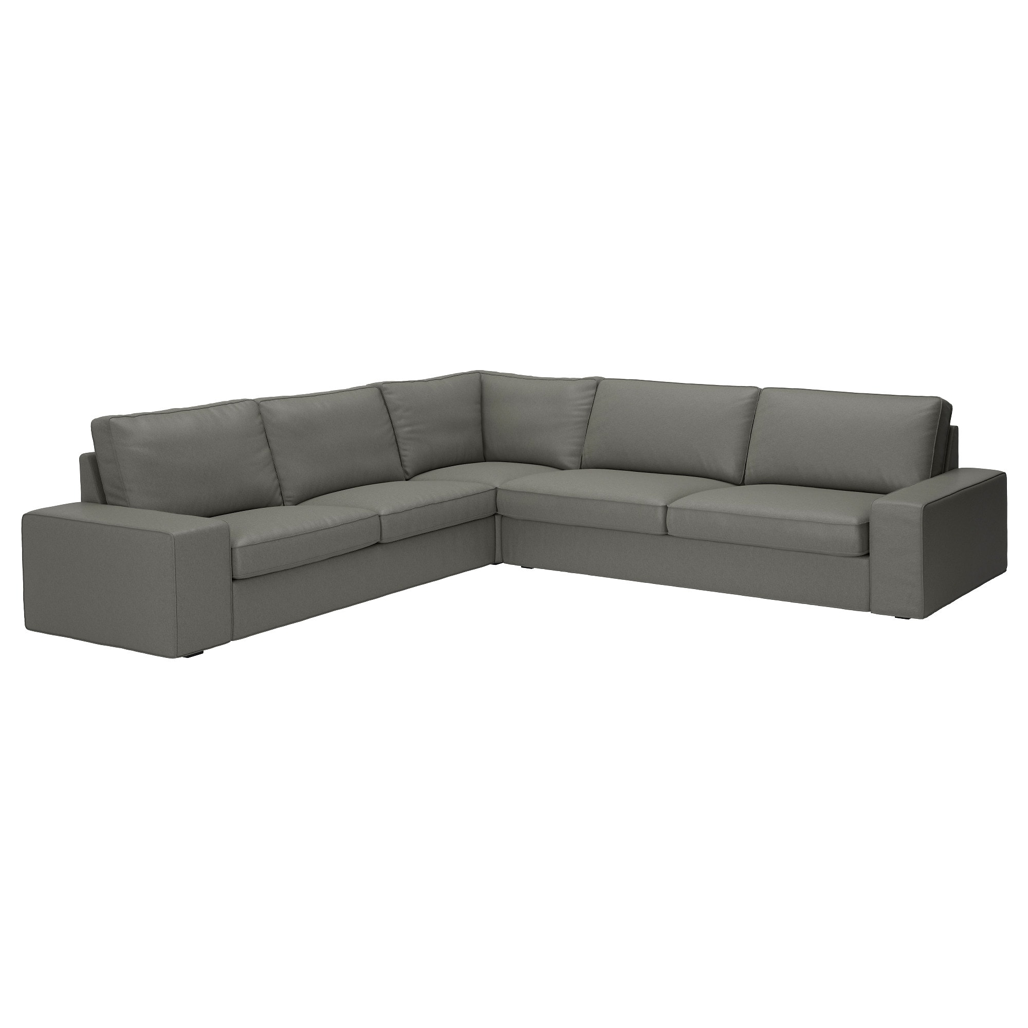Kivik Sectional, 5 Seat Corner – Hillared Anthracite – Ikea In Mesa Foam 2 Piece Sectionals (View 12 of 25)