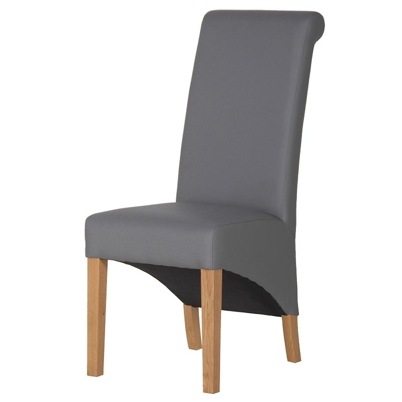 Knot Back Grey Faux Leather Dining Chair – Mulberry Moon with Grey Leather Dining Chairs