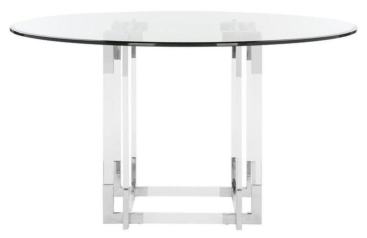 Koryn Round Acrylic Chrome Dining Table throughout Acrylic Round Dining Tables
