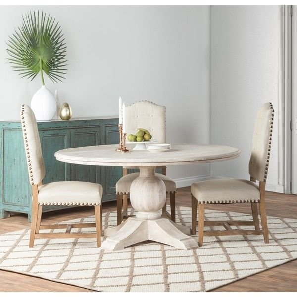 "Kosas Home Valencia Antique White 60"" Mango Wood Table 