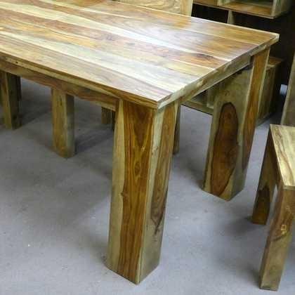 Kota Sheesham Dining Table 90 X 90 - Jugs Furniture inside Sheesham Dining Tables