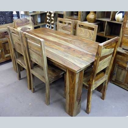 Kota Sheesham Dining Table And Four Chairs – Jugs Furniture Inside Sheesham Dining Tables And Chairs (Image 8 of 25)