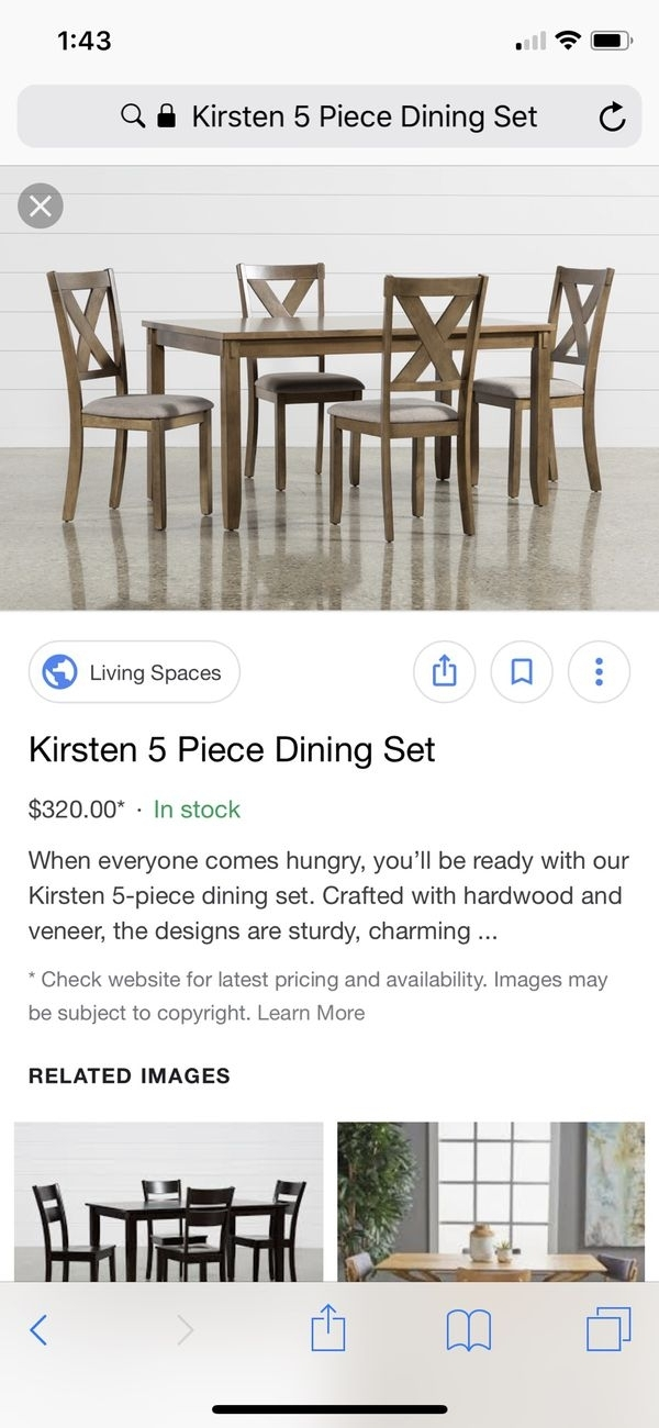 Kristen Dining Table And Bench For Sale In San Jose, Ca – Offerup With Kirsten 5 Piece Dining Sets (Image 17 of 25)