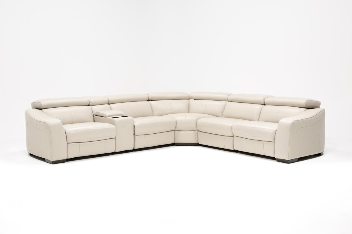 Kristen Silver Grey 6 Piece Power Reclining Sectional | Living Spaces intended for Kristen Silver Grey 6 Piece Power Reclining Sectionals