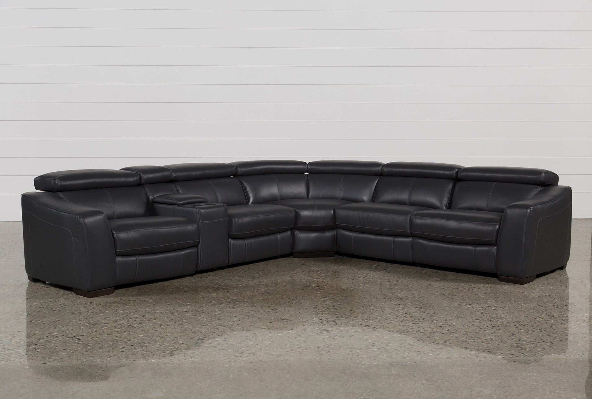 Kristen Slate Grey 6 Piece Power Reclining Sectional | House Intended For Norfolk Grey 6 Piece Sectionals (Image 9 of 25)