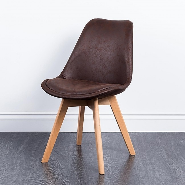 Ksp Madden 'antique' Faux Leather Dining Chair (Brown) | Kitchen Within Brown Leather Dining Chairs (Image 18 of 25)