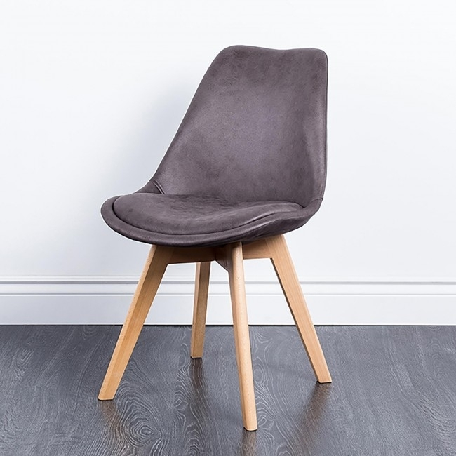 Ksp Madden 'antique' Faux Leather Dining Chair (Grey) | Kitchen Inside Grey Leather Dining Chairs (Image 16 of 25)
