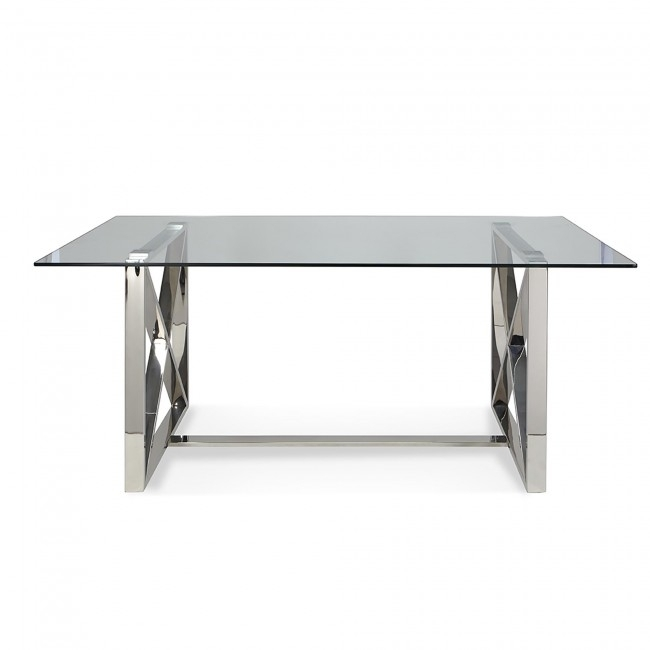 Ksp Xframe Dining Table (Chrome) | Kitchen Stuff Plus Throughout Chrome Dining Sets (Image 14 of 25)