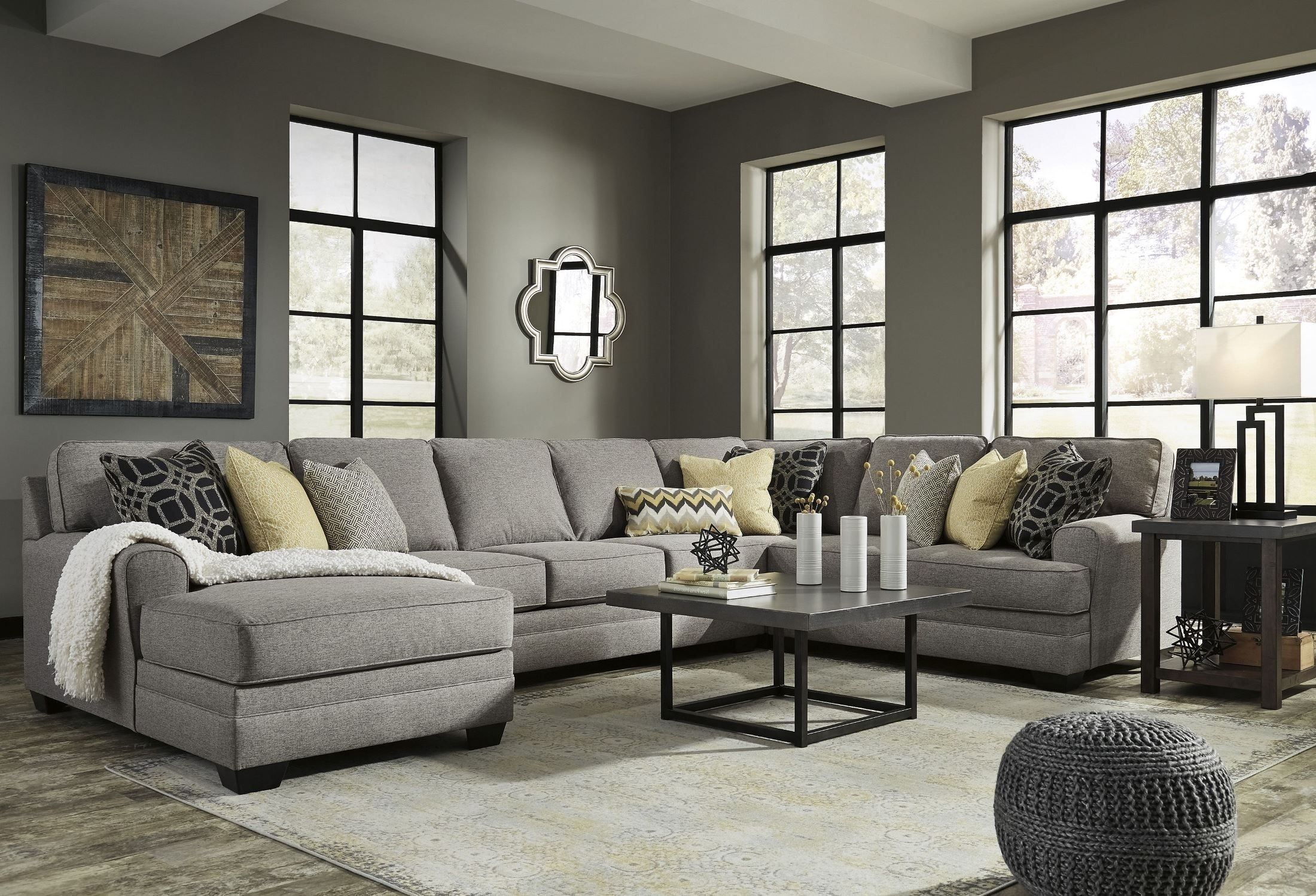 Laf Sectional Josephine 2 Piece W Sofa Living Spaces 222880 0 Jpg Regarding Arrowmask 2 Piece Sectionals With Raf Chaise (Image 10 of 25)