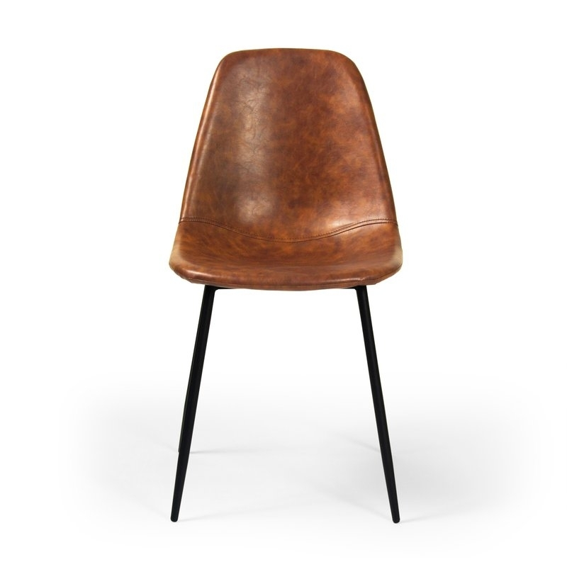 Lafayette Upholstered Dining Chair & Reviews   Allmodern In Leather Dining Chairs (View 20 of 25)