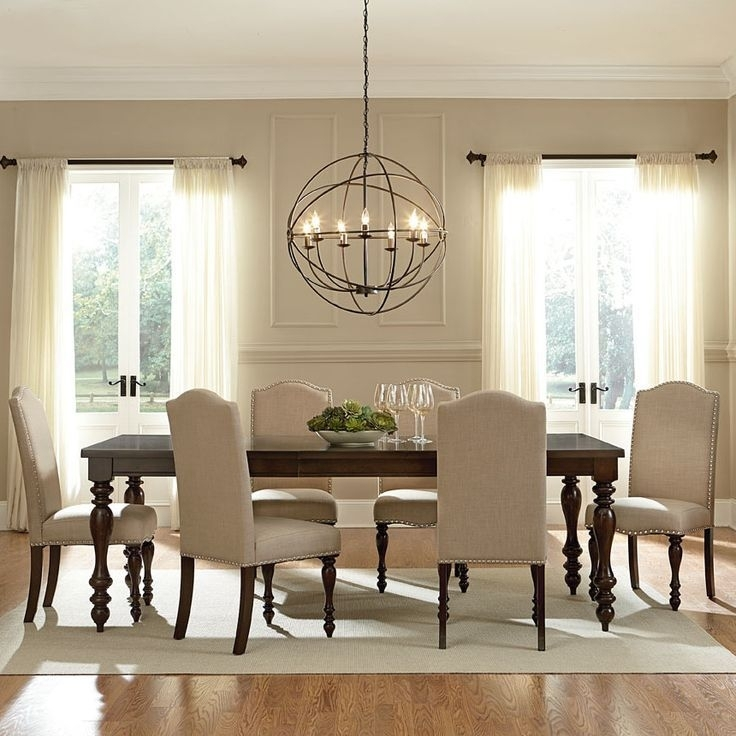 Lanesboro 7 Piece Dining Set In 2018 | Traditional Homes | Pinterest In Lighting For Dining Tables (View 9 of 25)