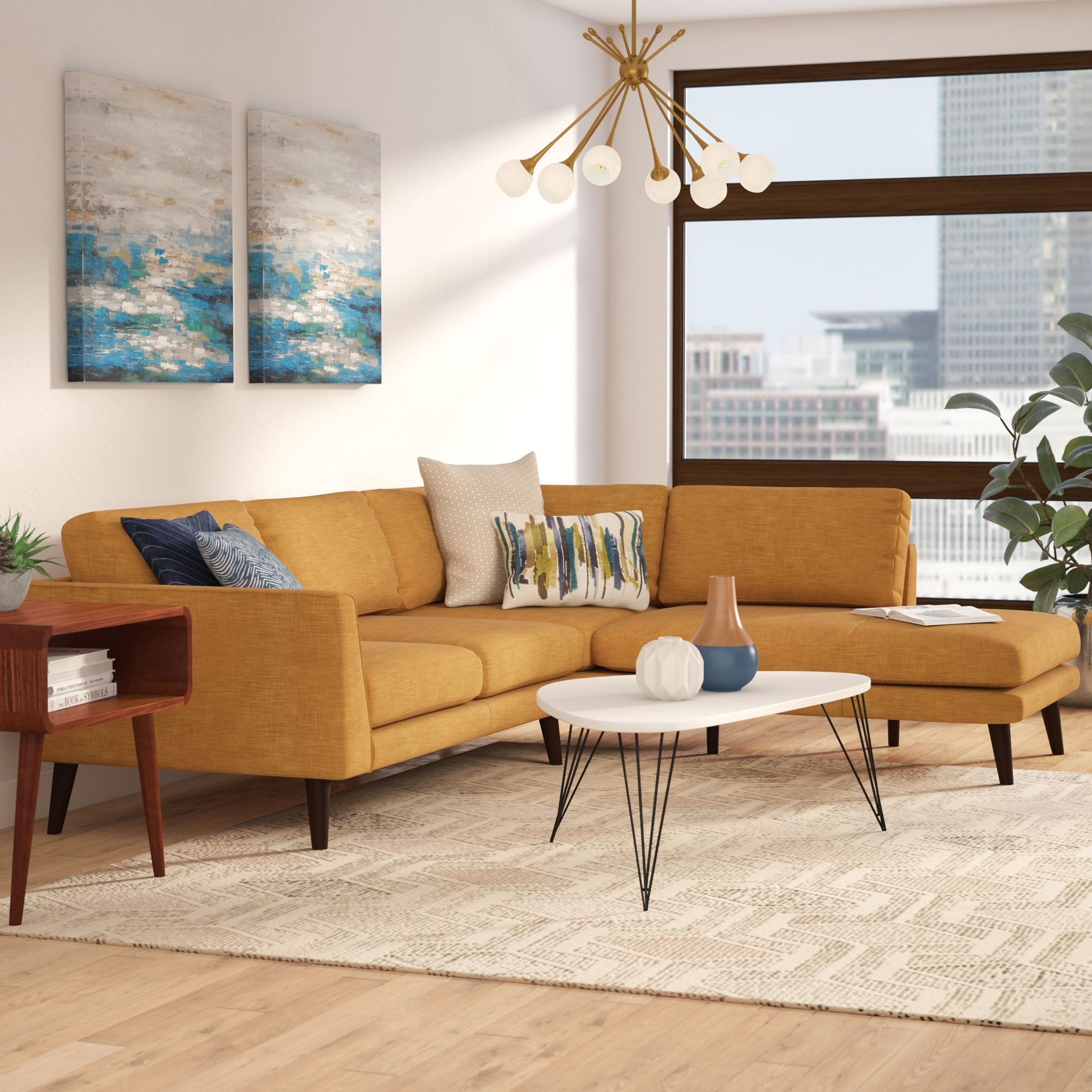 Langley Street Cottage Sectional & Reviews   Wayfair For Karen 3 Piece Sectionals (Image 12 of 25)