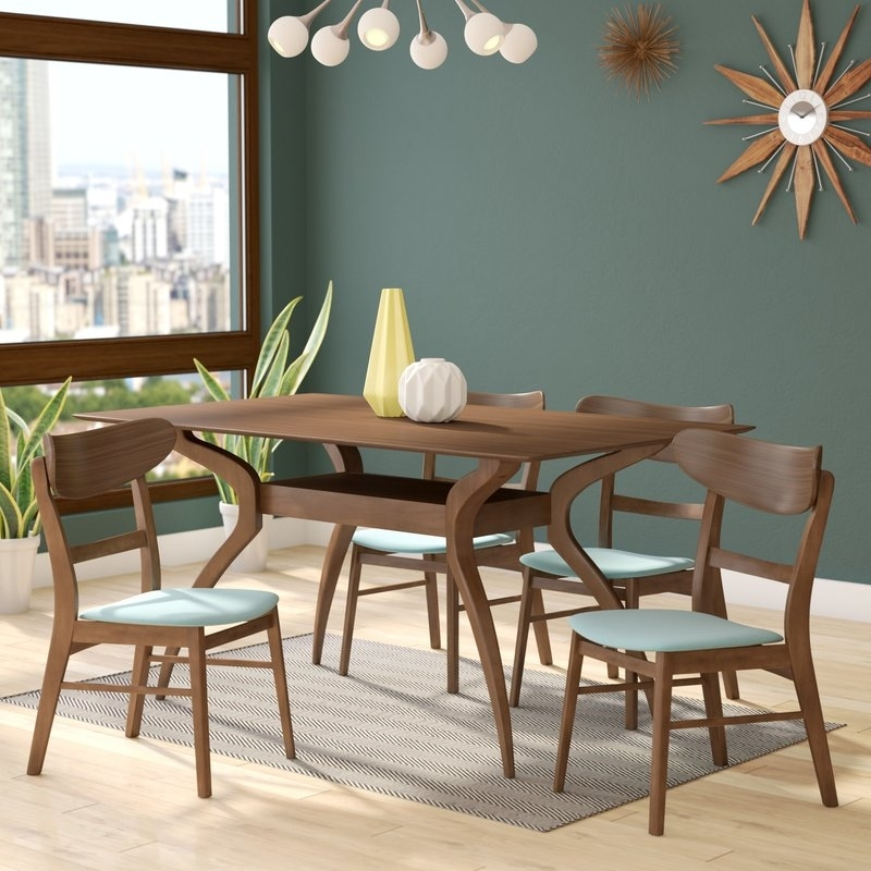 Langley Street Patterson 5 Piece Dining Set & Reviews | Wayfair In Patterson 6 Piece Dining Sets (View 2 of 25)