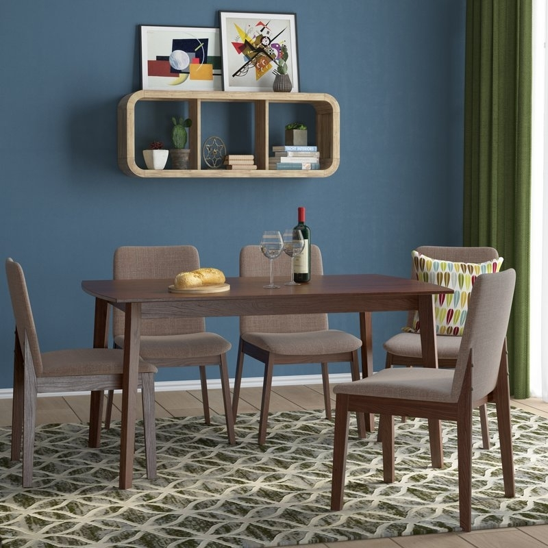 Langley Street Tahquitz Extendable Dining Table And 4 Chairs Throughout Extendable Dining Tables And 4 Chairs (View 23 of 25)