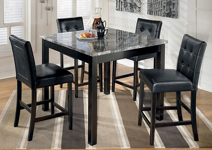Langlois Furniture – Muskegon, Mi Maysville Square Counter Height 5 Inside Jaxon 5 Piece Extension Round Dining Sets With Wood Chairs (Image 17 of 25)